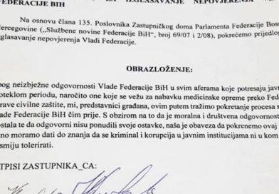 Evo ko je potpisao zahtjev za smjenu Novalića i Vlade FBiH